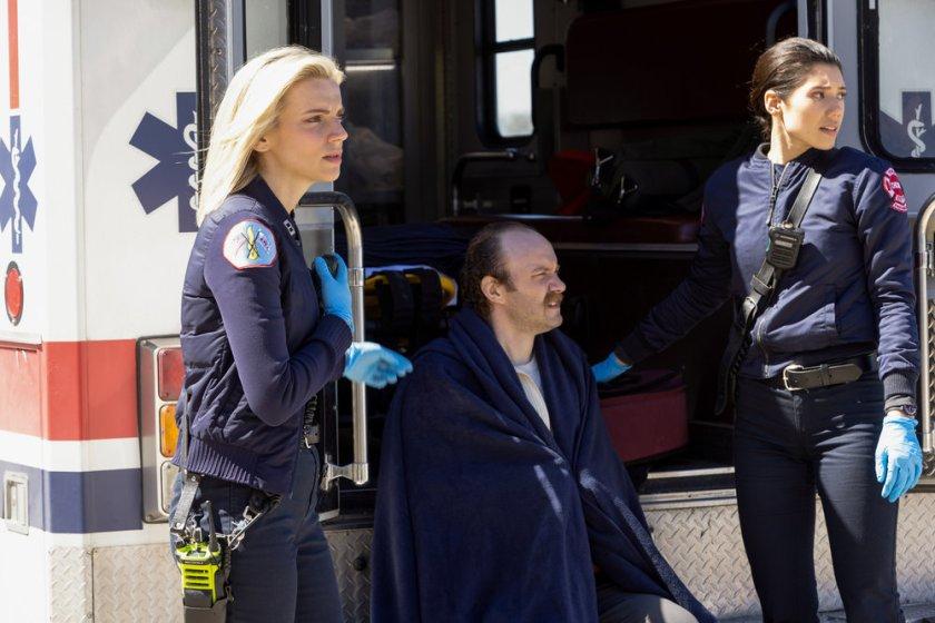 "CHICAGO FIRE -- ""No Survivors"" Episode 916 -- Pictured: (l-r) Kara Killmer as Sylvie Brett, Hanako Greensmith as Violet -- (Photo by: Adrian S. Burrows Sr./NBC)"