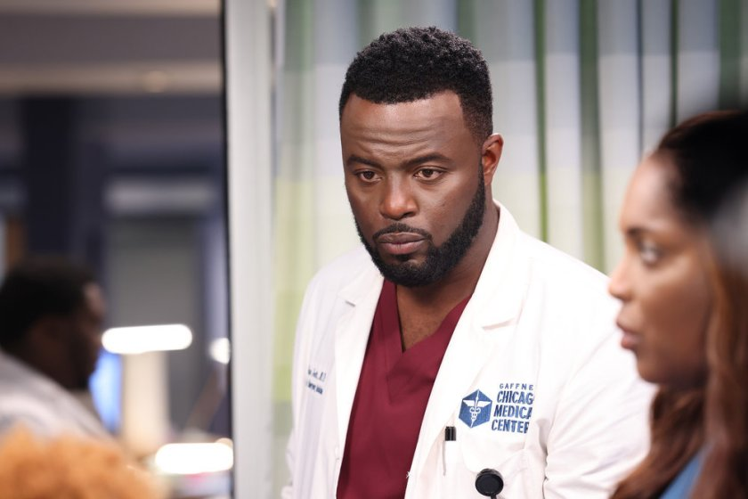 """CHICAGO MED -- """"You Can't Always Trust What You See"""" Episode 701 -- Pictured: Guy Lockard as Dr. Dylan Scott -- (Photo by: George Burns Jr/NBC)"""