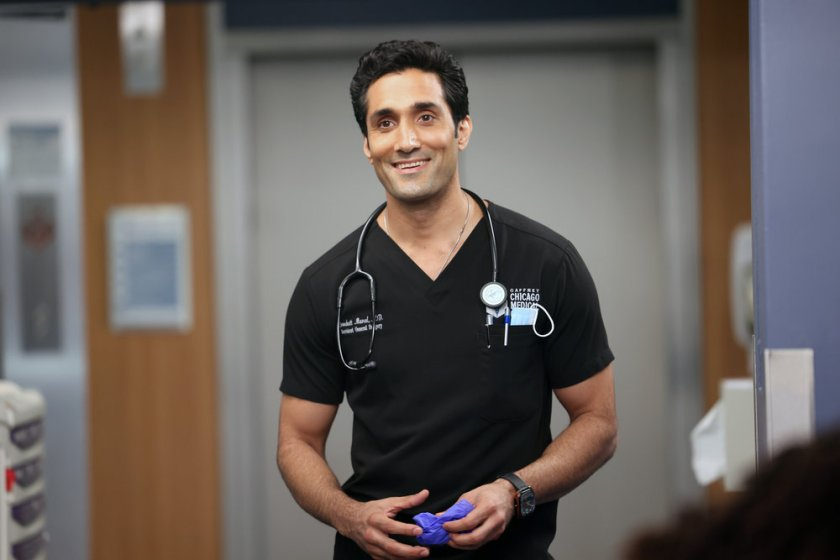 """CHICAGO MED -- """"You Can't Always Trust What You See"""" Episode 701 -- Pictured: Dominic Rains as Crockett Marcel -- (Photo by: George Burns Jr/NBC)"""