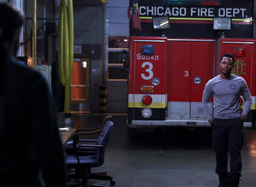 """CHICAGO FIRE -- """"The Right Thing"""" Episode 1004 -- Pictured: Daniel Kyri as Darren Ritter -- (Photo by: Adrian S. Burrows Sr./NBC)"""