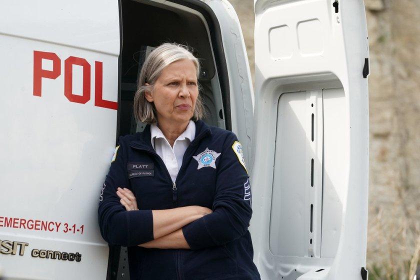 """CHICAGO P.D. -- """"In The Dark"""" Episode 904 -- Pictured: Amy Morton as Trudy Platt -- (Photo by: Lori Allen/NBC)"""
