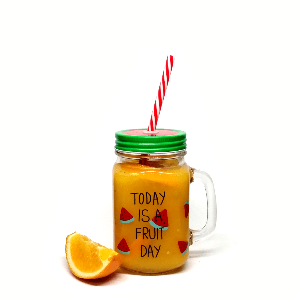 Orange Juice in Mason Jar Mug
