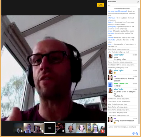 Nick Ribeiro, Director of PT3, on the Google Hangout
