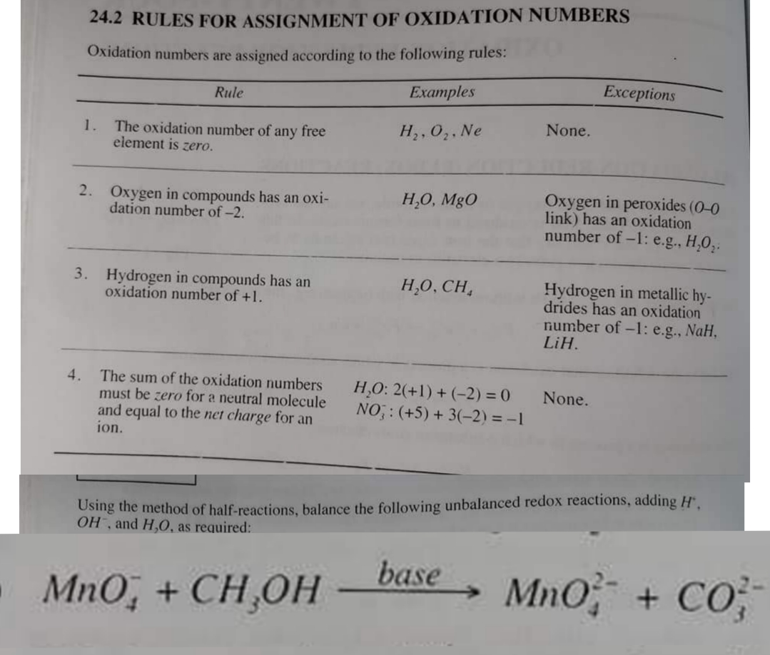 Using The Method Of Half Reactions Balance The Following