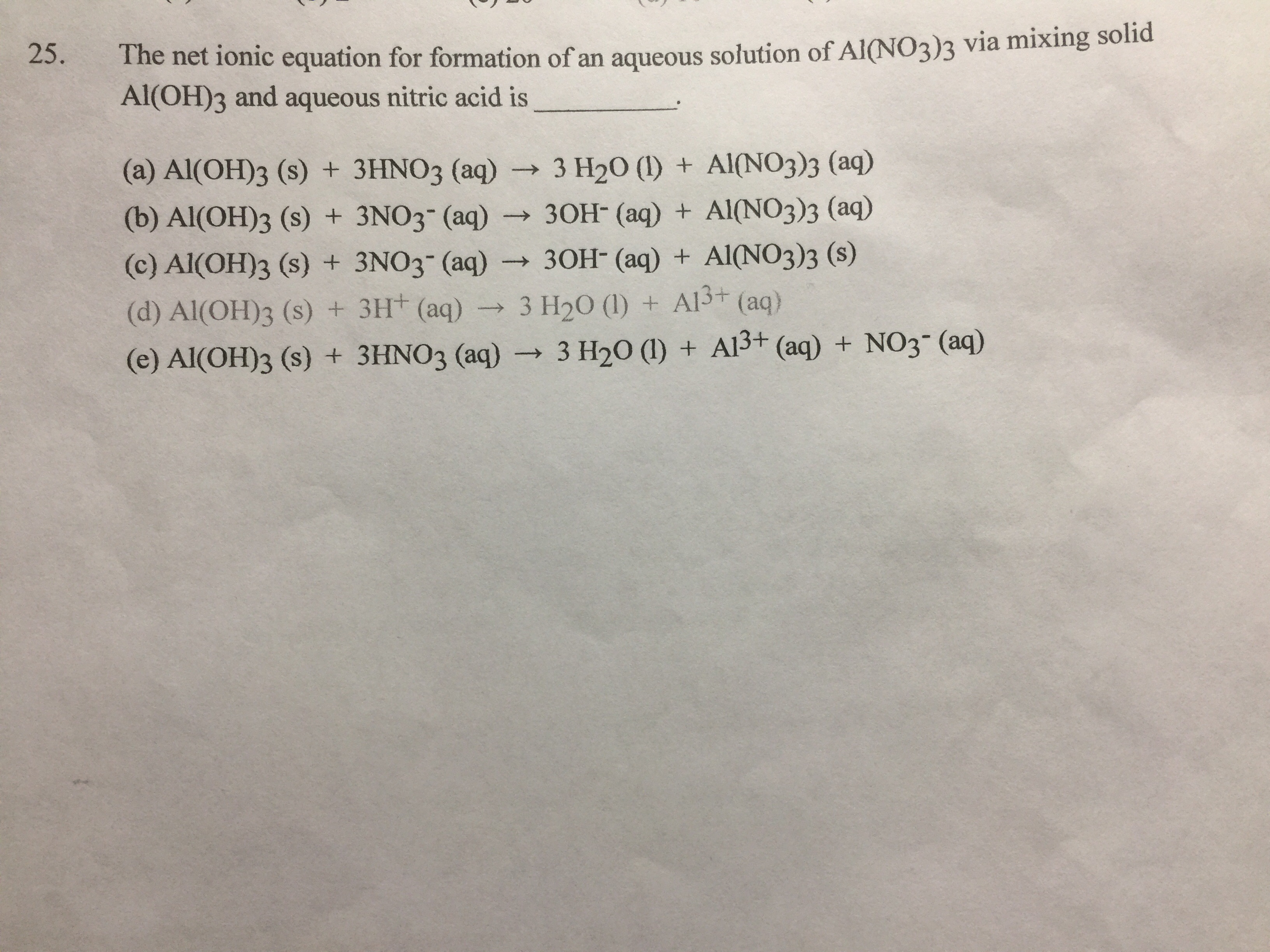 The Net Ionic Equation For Formation Of An Aqueous