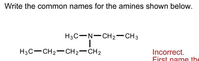 Naming Amines