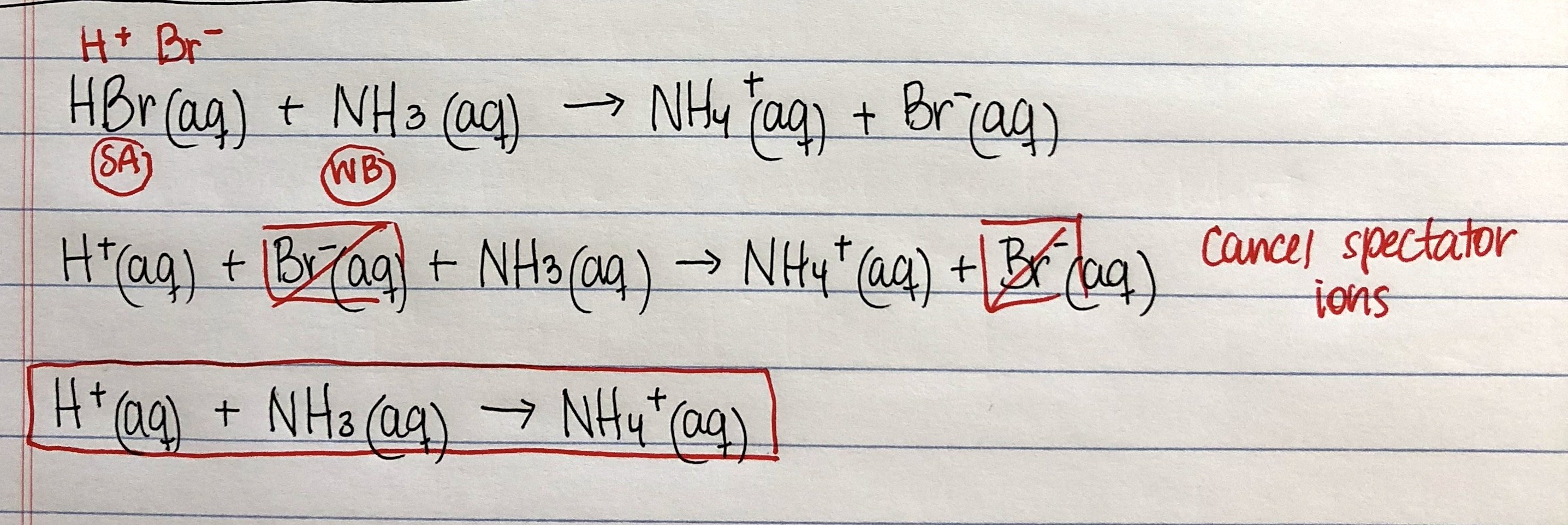Write The Balanced Net Ionic Equation For Dissociation Of