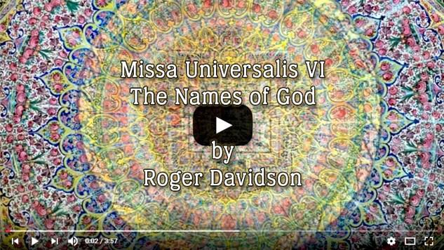 Missa Unoversalis VI - Roger Davidson