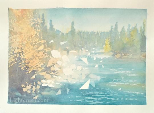 Postcard 2 - Watercolour on paper - 19x14cm - 2015
