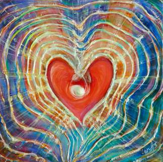 Image result for sending out light from the heart painting