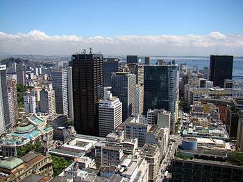 English: Aerial view of Rio de Janeiro city ce...