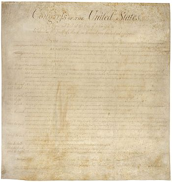 English: The Bill of Rights, the first ten ame...