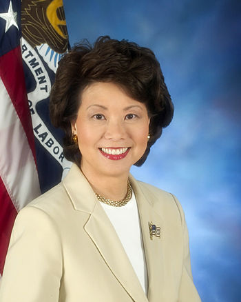 Labor Secretary Elaine Chao.