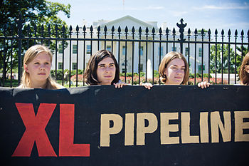 Keystone XL demonstration, White House,8-23-20...