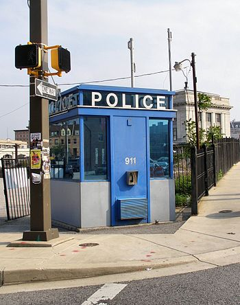 English: A fully modern Police Box in Baltimor...