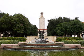 Littlefield Fountain and Main Building of The ...