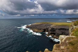 The cliffs at Kilkee on the Loop Head Peninsula in County Clare which is the subject of a new heritage trail that has been developed on 60km of the Wild Atlantic Way (WAW). Photo Valerie O'Sullivan.