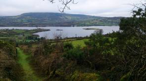 The 'Mass Path' to Flagmount overlooking Lough Graney, County Clare. Photo Ann Illing