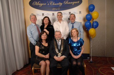 Mowlam Healthcare supported the Mayor's Charity banquet at Treacy's West County Hotel in Ennis. Pictured back row (l to r) were Pat Shanahan, Annette Shanahan, Mike Coffey and John O'Neill. Front row (l to r) Katriona O'Neill, Cathaoirleach Cllr. John Crowe and Andreena Coffee. Pic by Terry O'Brien