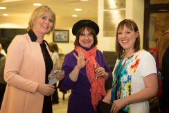 Carmel Doherty, Ana Marques and Evelyn O'Rourke at the Ennis Book Club Festival this weekend. Photograph by Eamon Ward