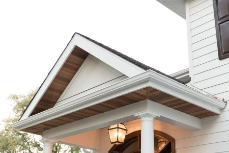 Soffit, fascia, and eaves on Winnipeg home entrance