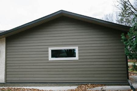 Winnipeg garage with new siding