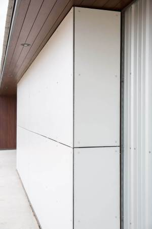 Properly installed Hardie cement panels
