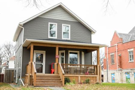 Heritage Winnipeg home with renovated exterior
