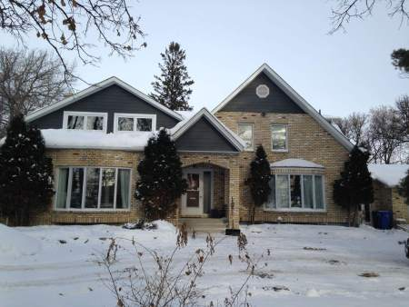 Large heritage home in winter