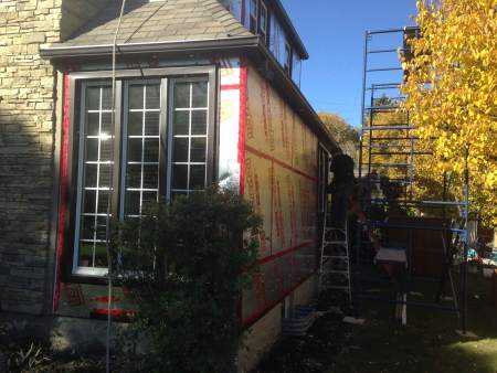 Winnipeg home prepared for new siding