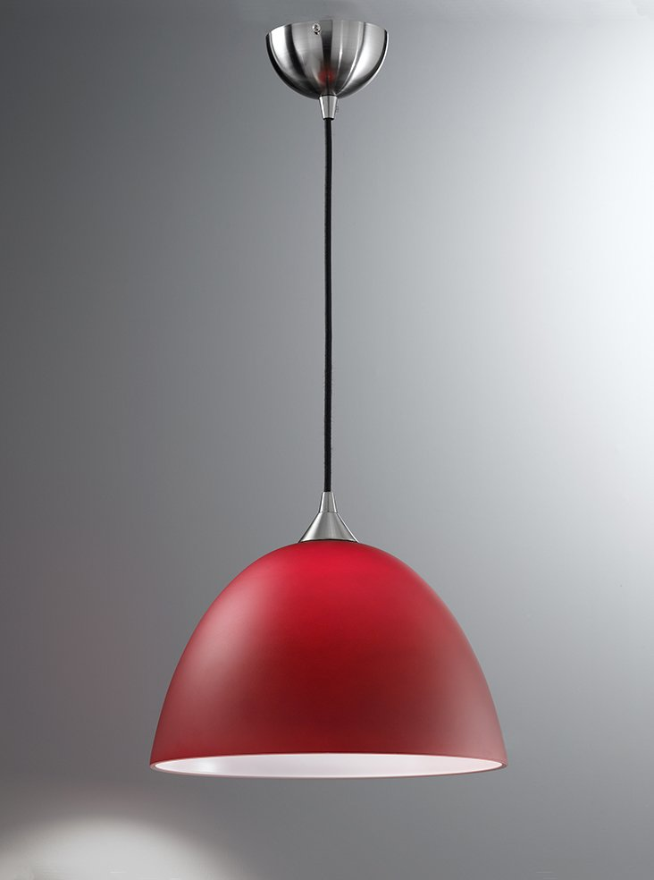 Large Red Pendant Light