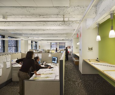 Design firm sets green example for clients with watt for Top sustainable architecture firms