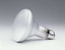 This 75W BR40 incandescent reflector lamp does not comply with EISA 2007. Photo courtesy of SYLVANIA.