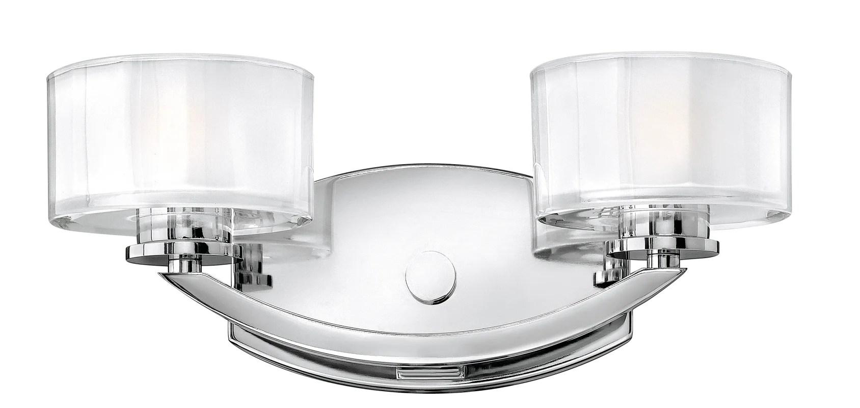 """Hinkley Lighting 5592CM Chrome 2 Light 14"""" Width Bathroom"""