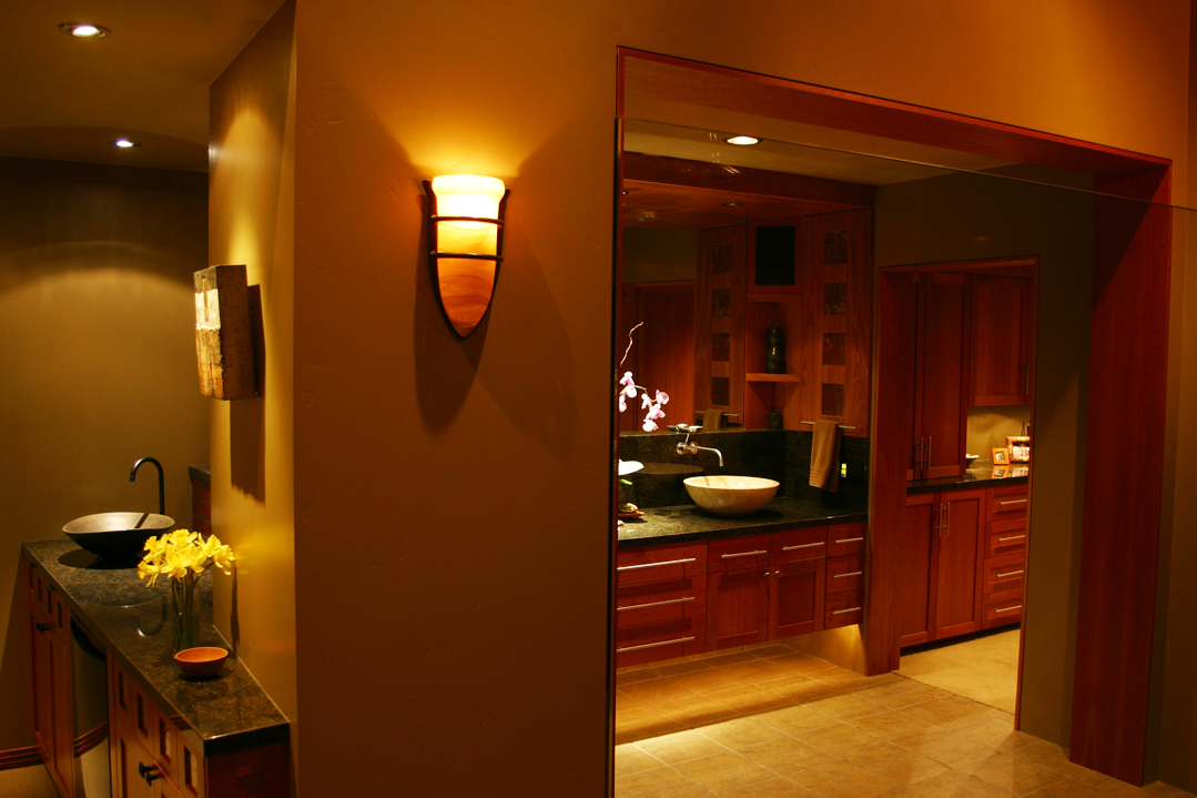 Indoor bathroom lighting solutions lighting distinctions even for bathroom lighting we propose to use warm colored led lighting led lights has the capability to make this special room feel larger aloadofball Gallery