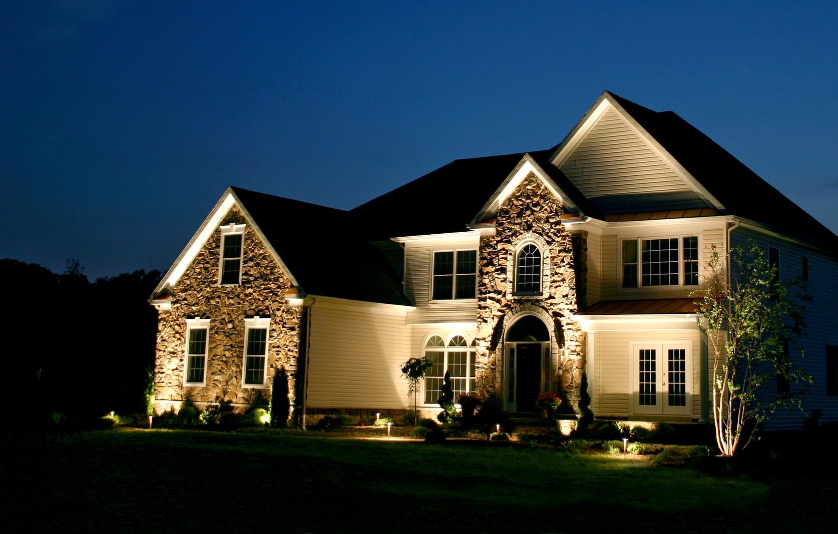 installing landscape lighting