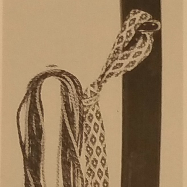 "Example of a koshigatana. Described as a ""chiisa katana"" (short sword) with a hamidashi (jutting outward) tsuba. Represents a style used around the ending of the Edo period. From the book ""Nihon no Bijutsu 1"", by Ogasawara Nobuo."
