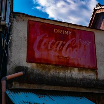 Old signboard Coca Cola
