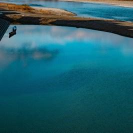 Riverside twilight blue