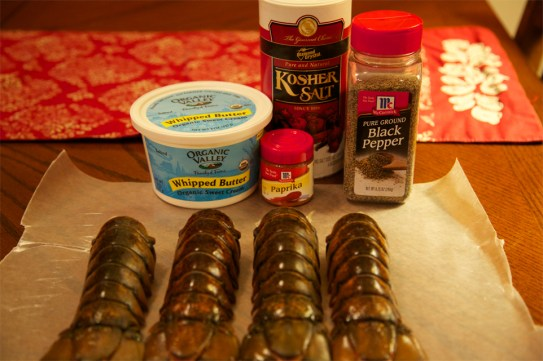 Ingredients for Broiled Lobster Tails