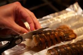 Step 1: Cut lobster shell