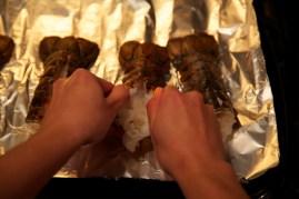 Step 2: Spread shells slightly