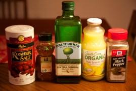 Ingredients for Lemon-Honey Dressing