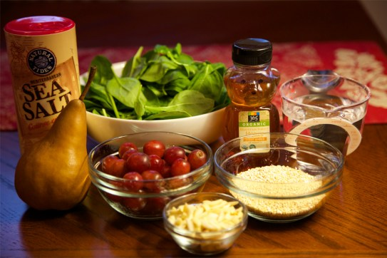 Ingredients for Spinach Quinoa Salad