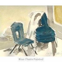 Blue Chairs Painted