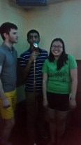 Tarun, our guest of honor, leads a song.