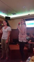 Michelle and Jen sing in harmony!