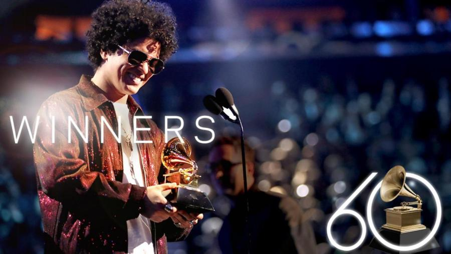 Artist+Bruno+Mars+wins+the+award+for+Album+of+the+Year+for+%2224k+Magic.%22+During+the+show%2C+Mars+won+a+total+of+6+Grammy+awards++like+Song+of+the+Year+and+Record+of+the+Year.