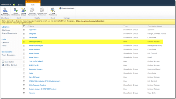 image thumb16 SharePoint 2010 Permissions management Guide