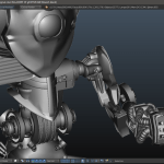 Throng 3D arm joint with leg